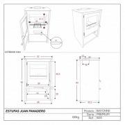 Estufa de leña Juan Panadero BAYONNE 7,4 kW