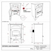 Estufa de leña Juan Panadero TOULOUSE 7,4 kW