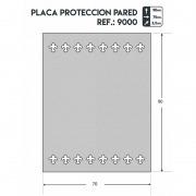 Placa protección pared estufa leña