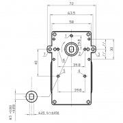 Motorreductor Kenta - 5 rpm sin eje