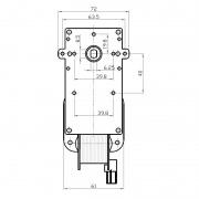 Motorreductor Kenta - 2 rpm sin eje