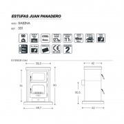 Estufa de leña Juan Panadero Sabina 12,7 kW