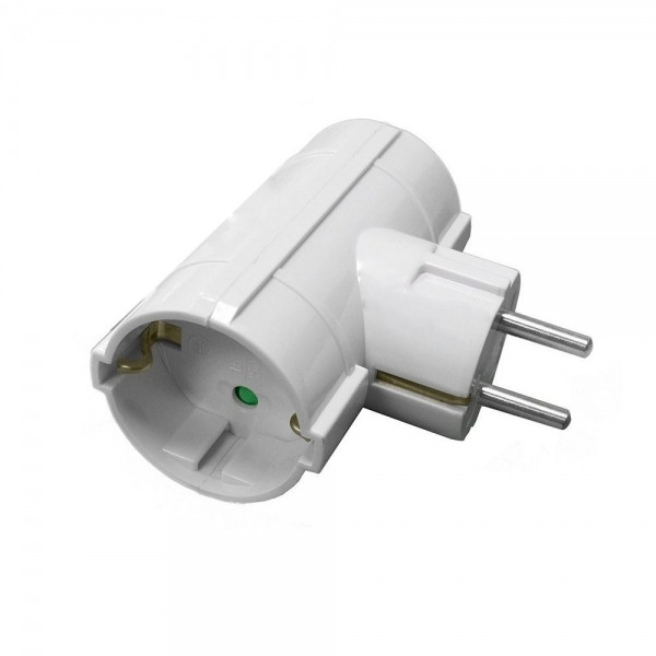 Adaptador Doble Schuko 16 A. 250 V.