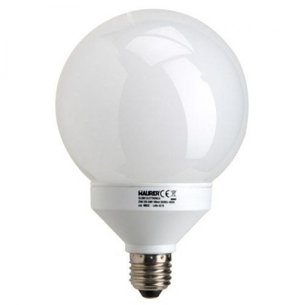 Bombilla Ahorro Globolux Fluorescente 120 mm. E27 25 W. = 100 W. Luz Calida