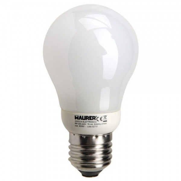 Bombilla Ahorro Standard Fluorescente E27 11 W. = 55 W. Luz Calida