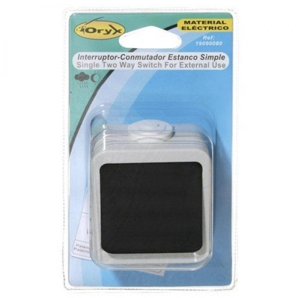 Interruptor / Conmutador Oryx Simple con tapa gris
