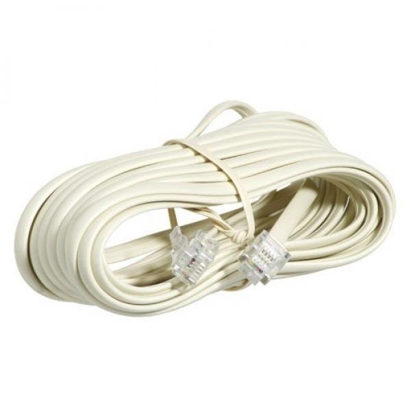 Cable Telefono 8 m. - 2 Clavijas-6/4