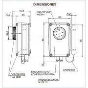 Termostato ambiente con bulbo lateral IMIT ETR