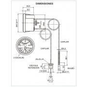 Termomanómetro con bulbo y sensor IMT