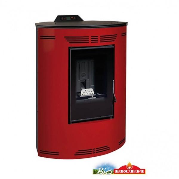 Estufa de pellets de rincón Bronpi PRINCESA 12 kW