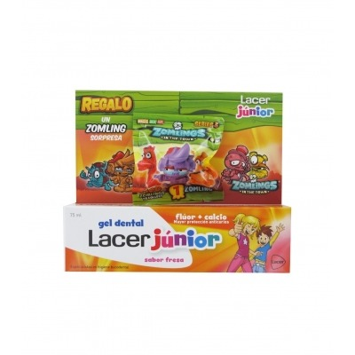 LACER INFANTIL GEL DENTAL 75 ML FRESA + REGALO
