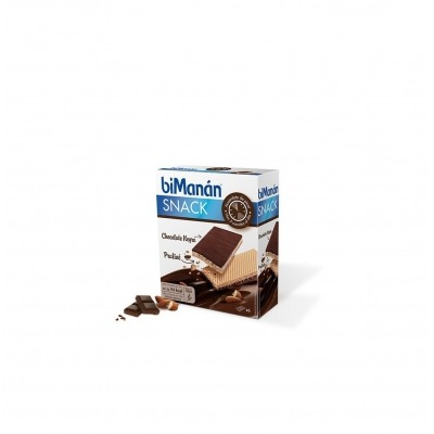 BIMANAN SNACK CHOCOLATE NEGRO Y PRALINE 20 G 6 UNIDADES