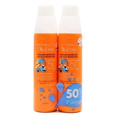 AVENE SPF 50+ SPRAY NIÑOS 200 ML. DUPLO