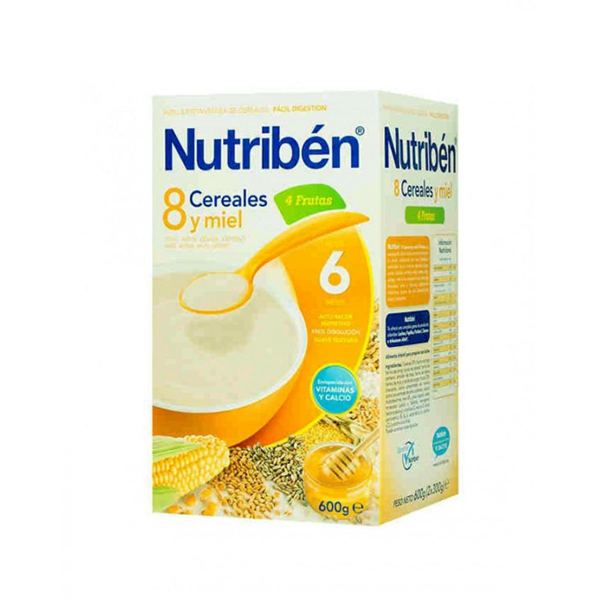 NUTRIBEN 8 CEREALES Y MIEL 4 FRUTAS 600 G.