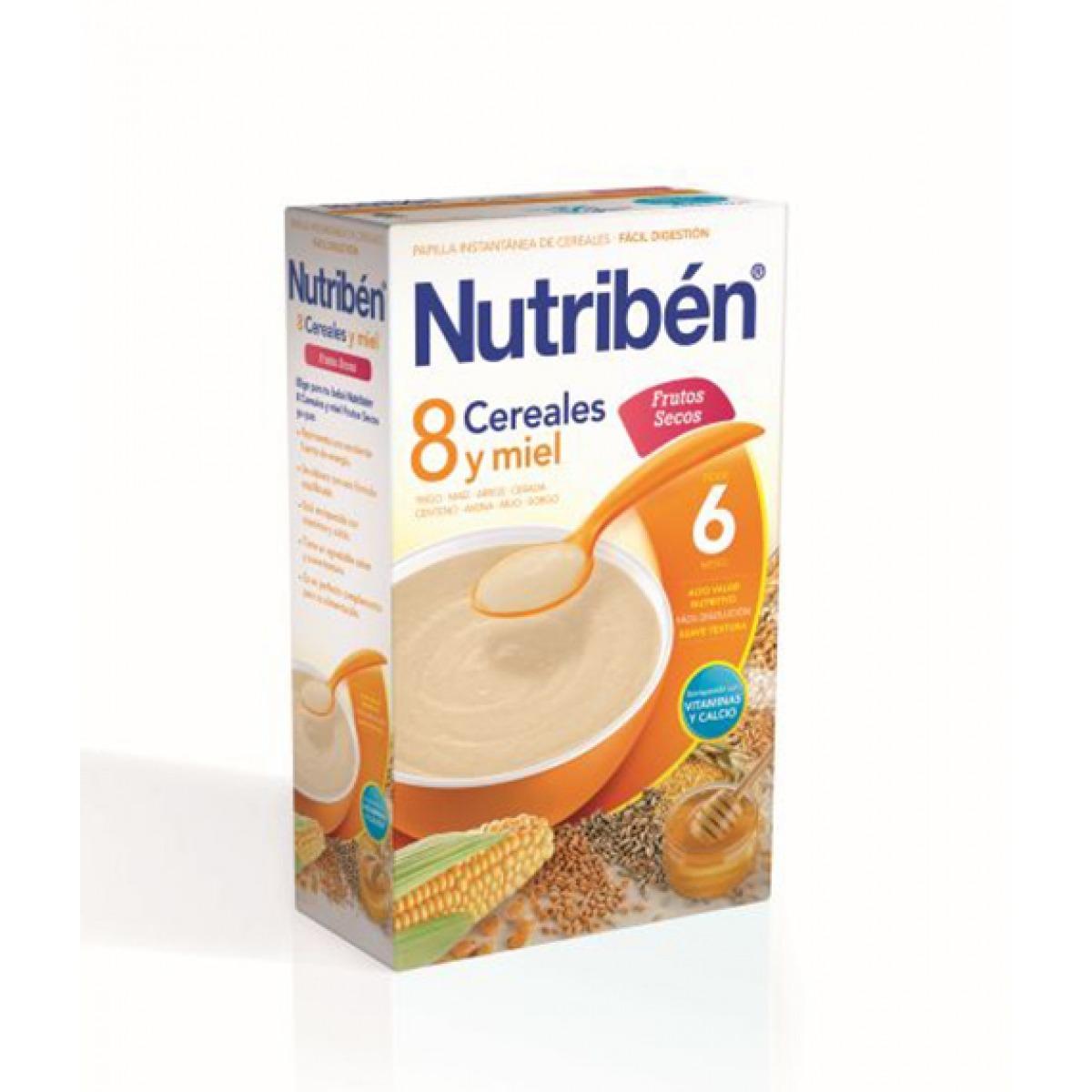 NUTRIBEN 8 CEREALES Y MIEL FRUTOS SECOS 600 G.