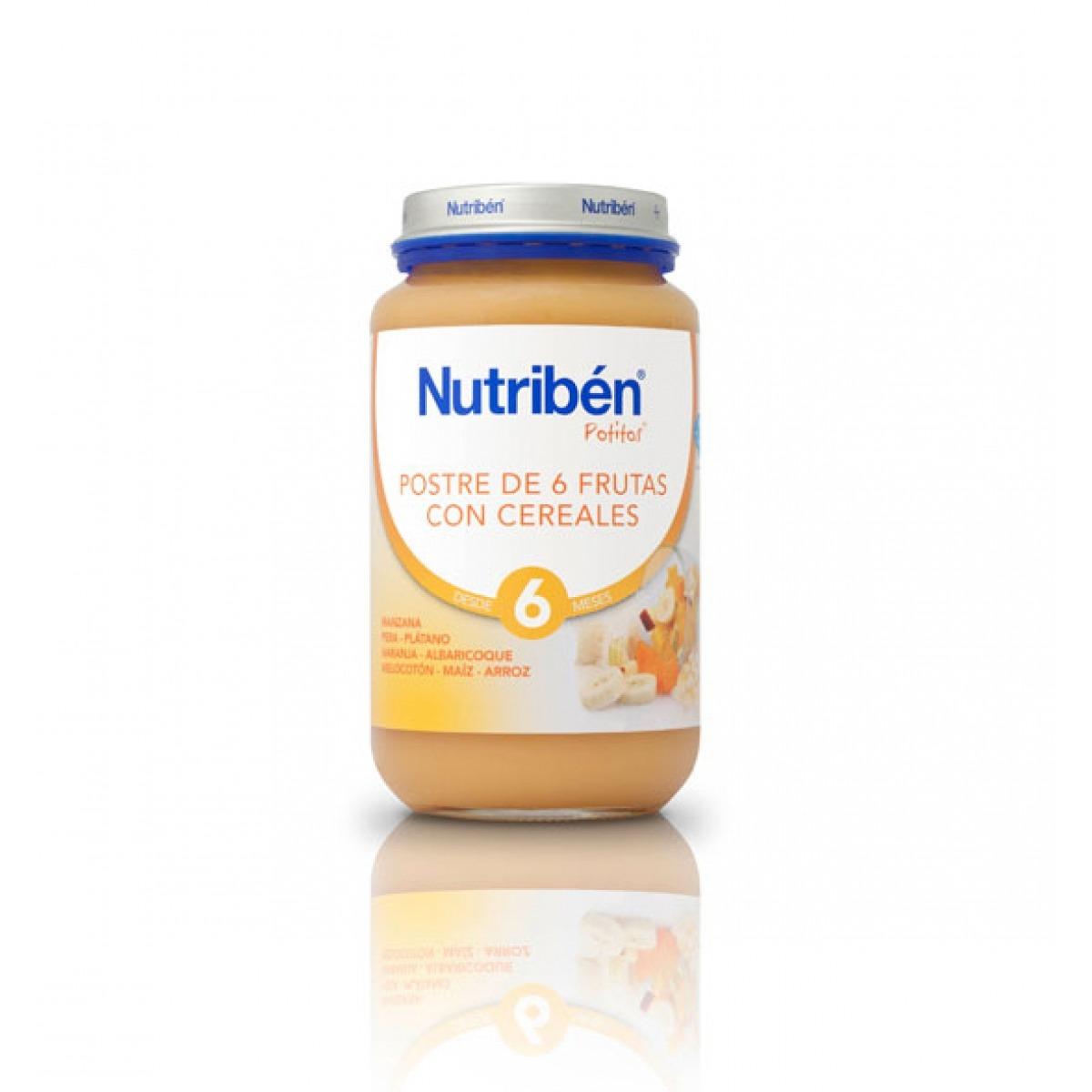NUTRIBEN POSTRE 6 FRUTAS CON CEREALES 250 G.