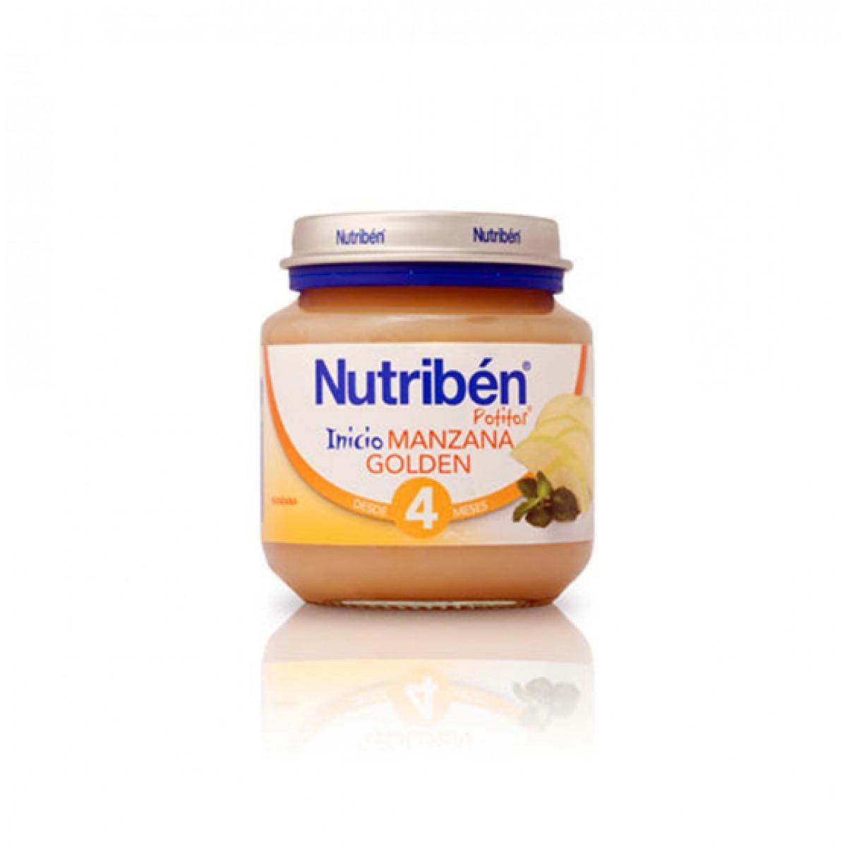 NUTRIBEN POTITO DE INCIO MANZANA GOLDEN 130 G.