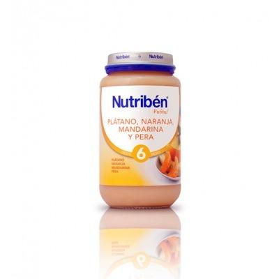 NUTRIBEN PLTANO, NARANJA, MANDARINA Y PERA 250 G.