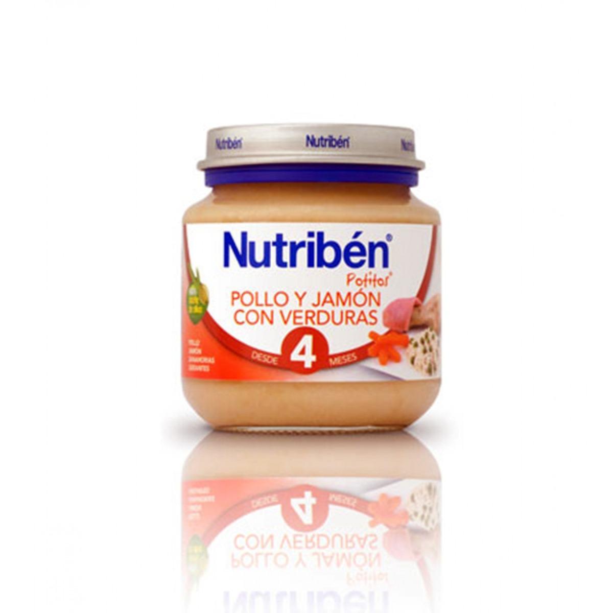 NUTRIBEN POLLO Y JAMN CON VERDURAS 130 G.
