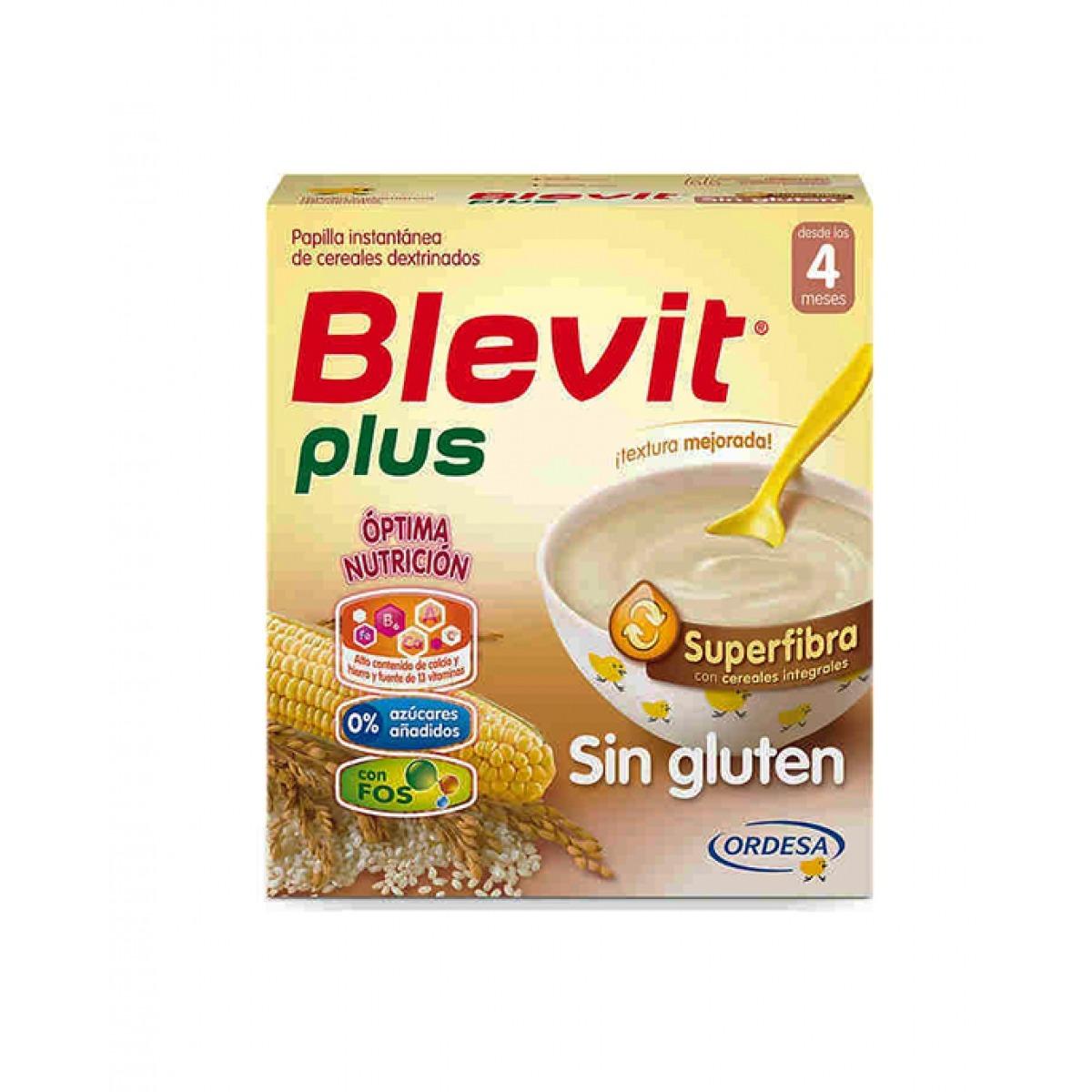 BLEVIT PLUS SUPERFIBRA SIN GLUTEN 600 G.