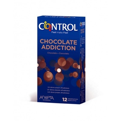 CONTROL CHOCOLATE ADDICTION PRESERVATIVOS 12 UNIDADES.