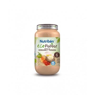 NUTRIBEN ECOPOTITOS DELICIAS DE VERDURAS Y TERNERA 250 G.