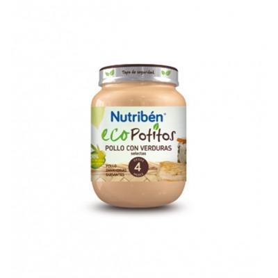 NUTRIBEN ECOPOTITOS POLLO CON VERDURAS SELECTAS 130 G.