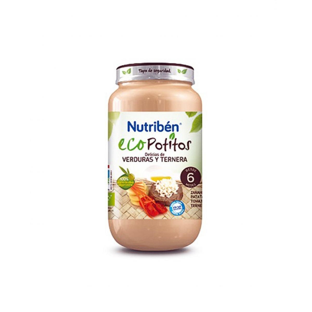 NUTRIBEN ECOPOTITOS POLLO CON VERDURAS SELECTAS 200 G.