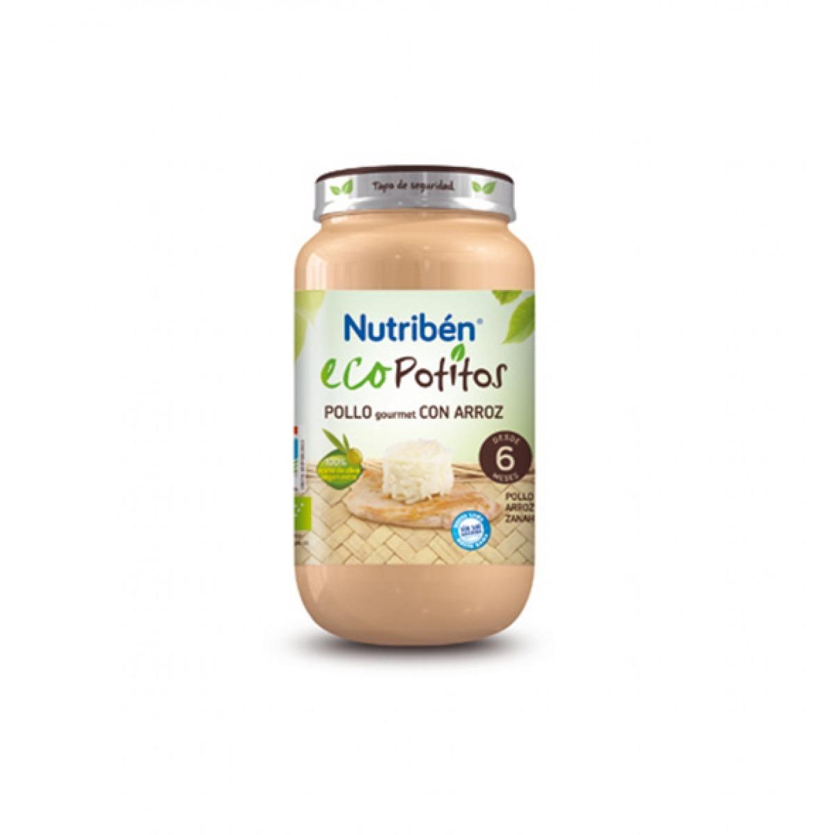 NUTRIBEN ECOPOTITOS POLLO GOURMET CON ARROZ 250 G.
