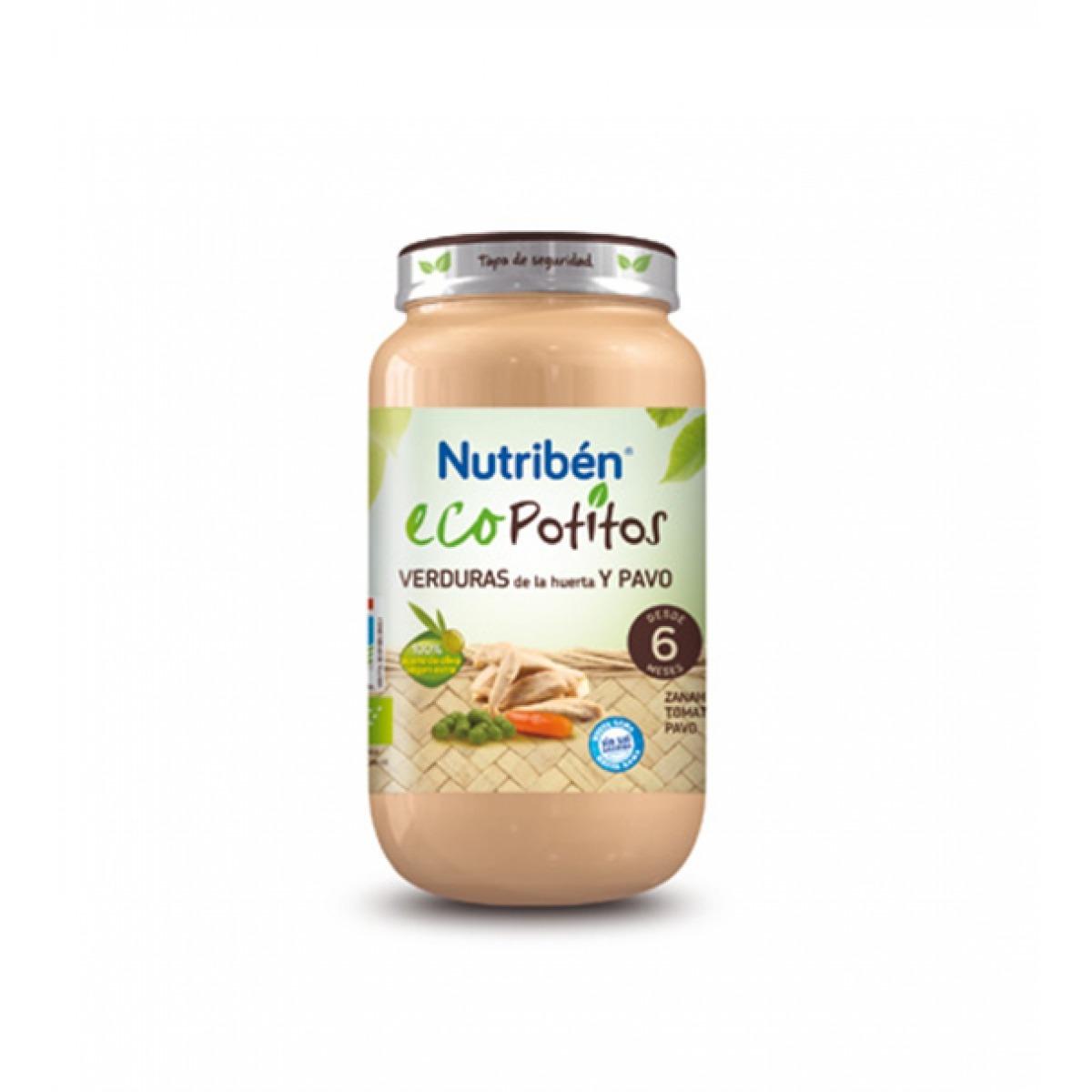 NUTRIBEN ECOPOTITOS VERDURAS DE LA HUERTA Y PAVO 250 G.