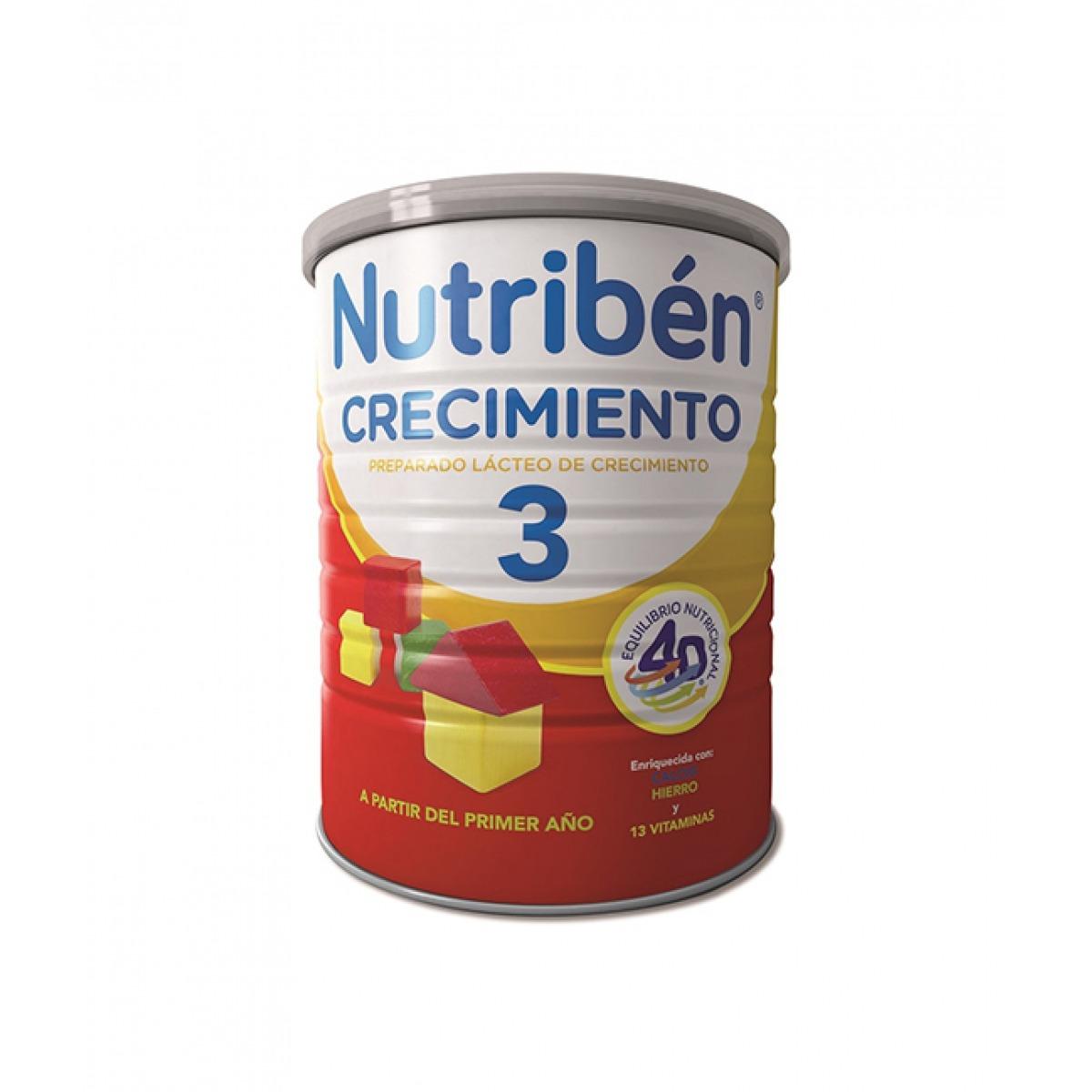 NUTRIBEN LECHE CRECIMIENTO 800 G.