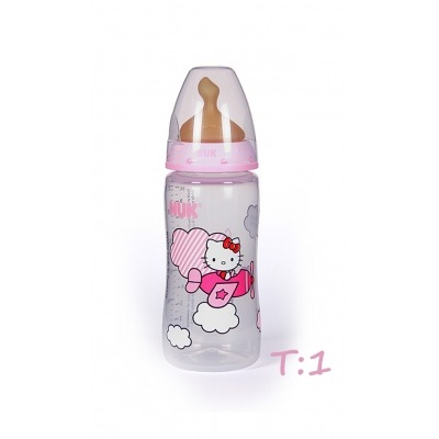 NUK BIBERN LTEX FIRTS CHOICE HELLO KITTY T1:M LECHE 300 ML.