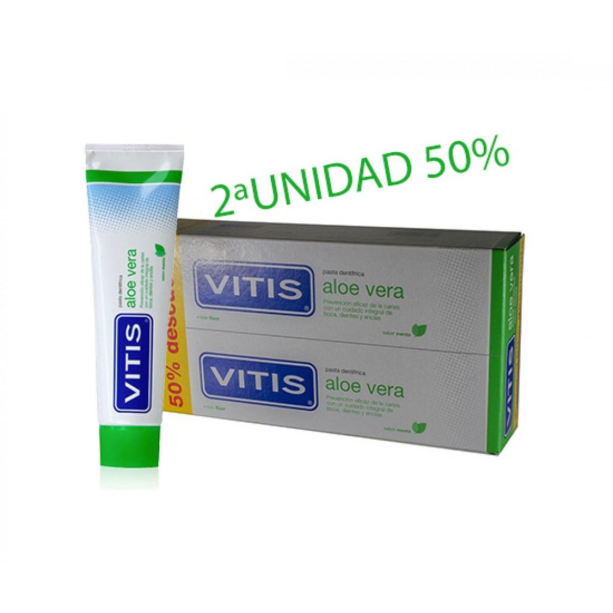 VITIS ALOE VERA PASTA DENTRFICA 2X125ML.2UNIDAD 50 DESCUENTO OFERTA WEB