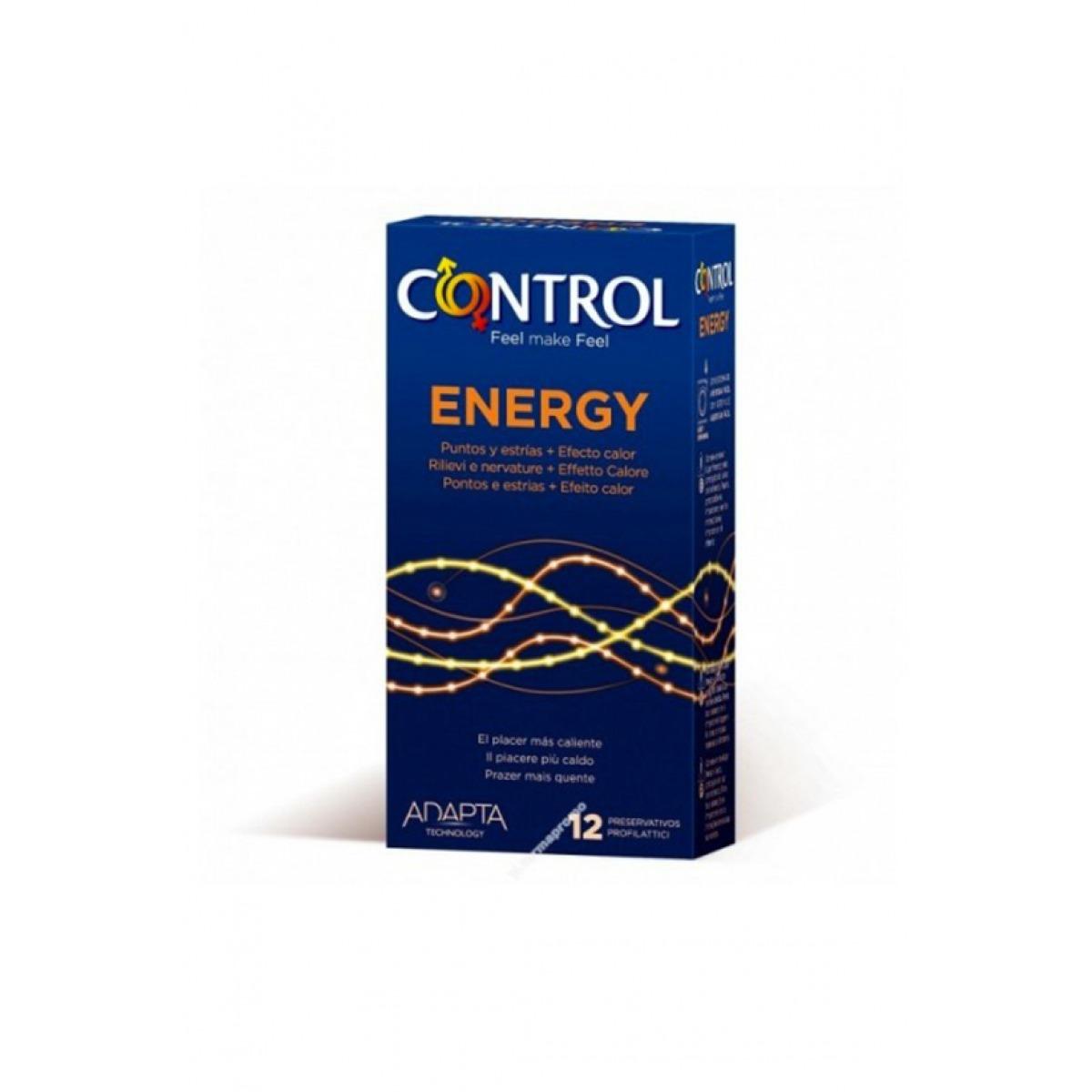 CONTROL PRESERVATIVOS ENERGY 12 UNIDADES