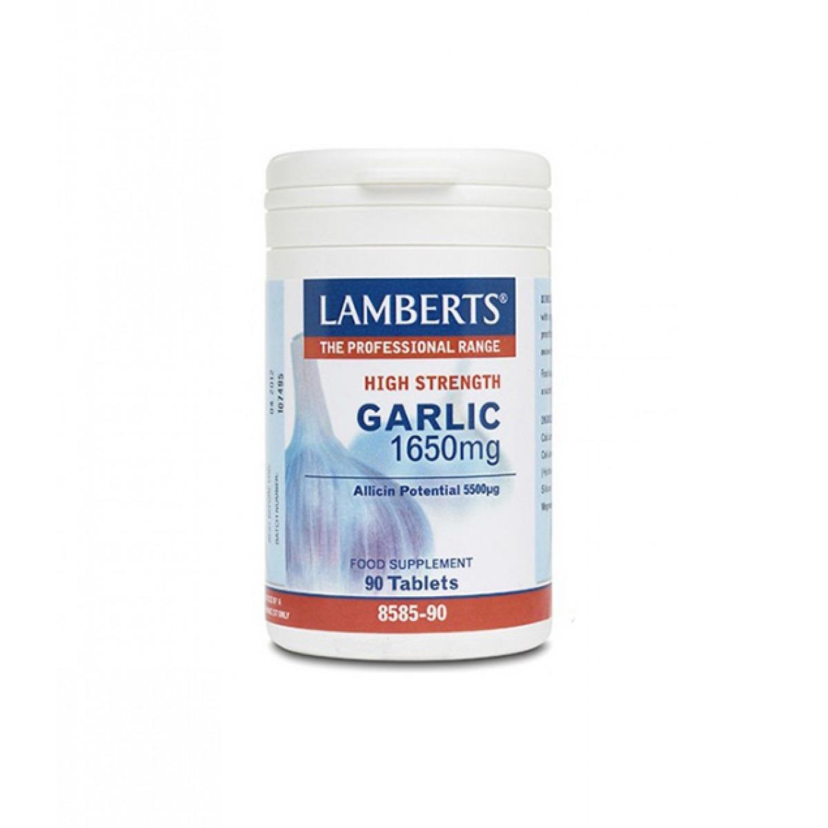 LAMBERTS GARLIC 1650 MG AJO 90 TABL