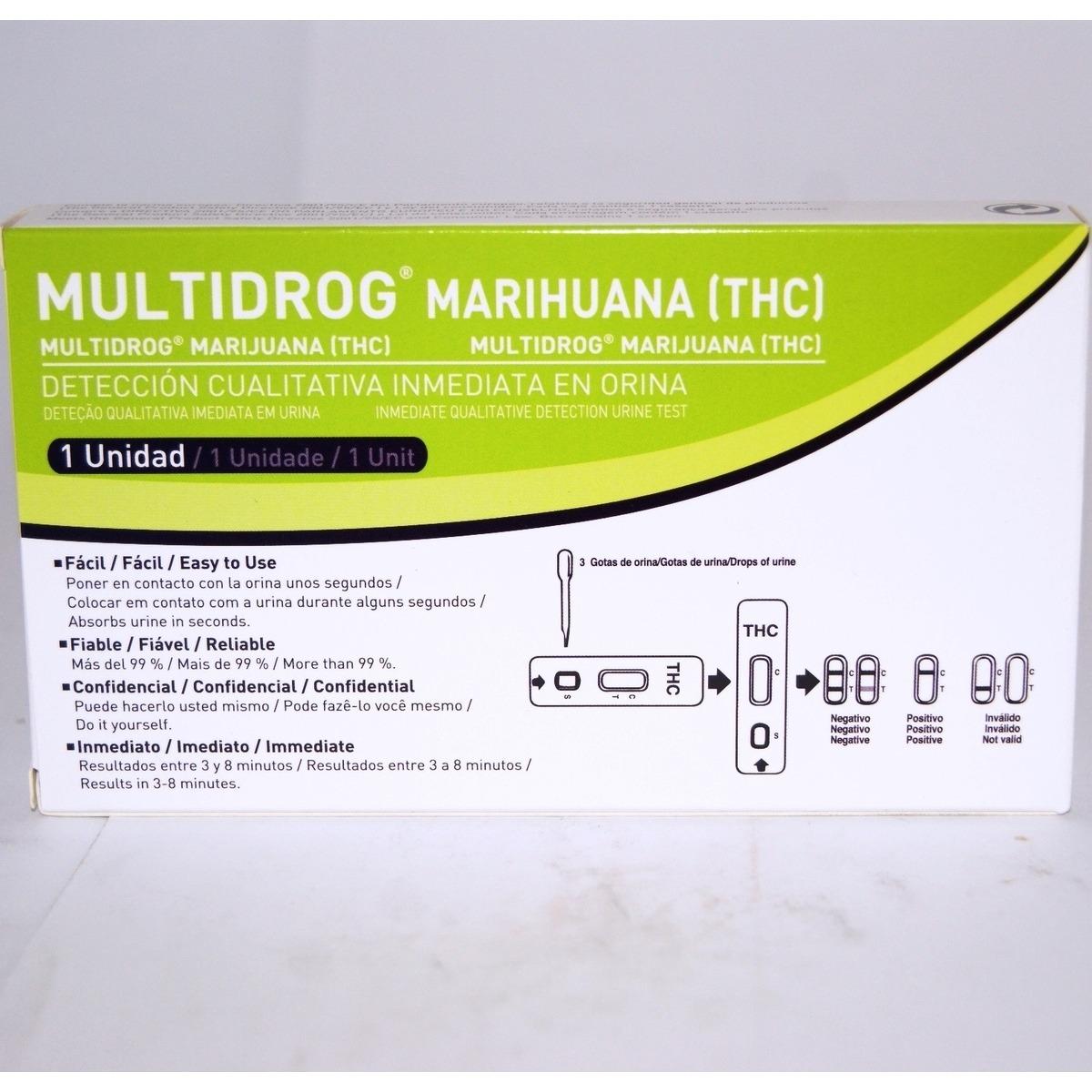 MULTIDROG TEST MARIHUANA THC 1 UNIDAD.