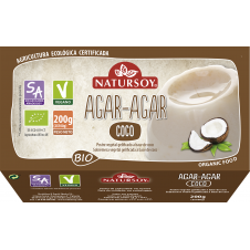 Postre Agar agar sabor Coco bio 2x100gr Natursoy