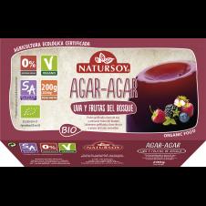 Postre Agar agar sabor Uva y Frutas del bosque bio 2x100gr Natursoy