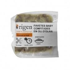 Habas confitadas en aceite de oliva al vacío 190gr Origen