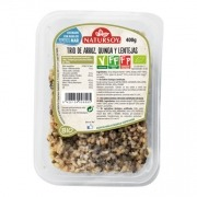 Trio arroz quinoa lentejas pipas vegan 400gr Natursoy