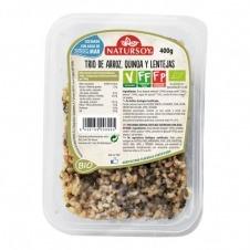 Trío de Arroz, Quinoa y Lentejas 400gr Natursoy