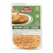 Hamburguesa vegana espelta y verduras 2x100gr Natursoy