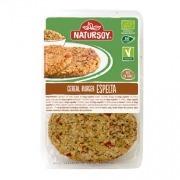 Hamburguesa vegetal de cereales de Espelta 2x75gr Natursoy