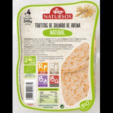 Tortitas de Salvado de avena Natural 240gr Natursoy