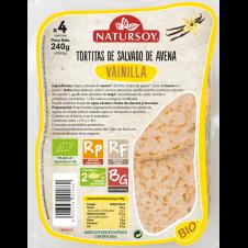 Tortitas de Salvado de avena sabor Vainilla 240gr Natursoy