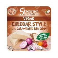 Queso vegano en Bloque Cheddar con cebolla roja caramelizada 200gr Sheese