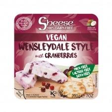 Queso vegano en Bloque estilo Wensleydale arándanos 200gr Sheese