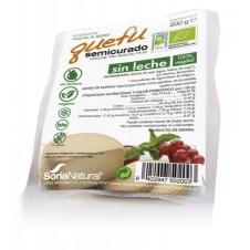 Queso vegano en bloque Quefu semicurado sin leche 200gr Soria Natural