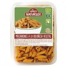 Macarrones a la Boloñesa Vegetal Bio 300gr Natursoy