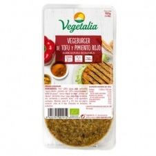 Vegeburguer de Tofu y Pimiento rojo 160gr Vegetalia